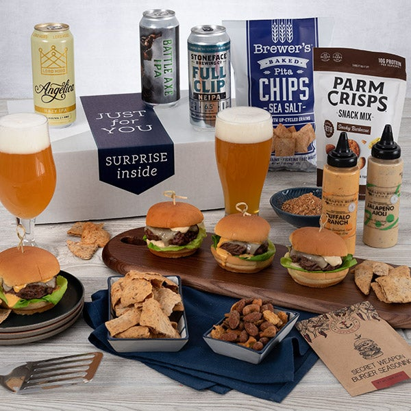 Beer-B-Q Bucket: one of our great gift baskets for men