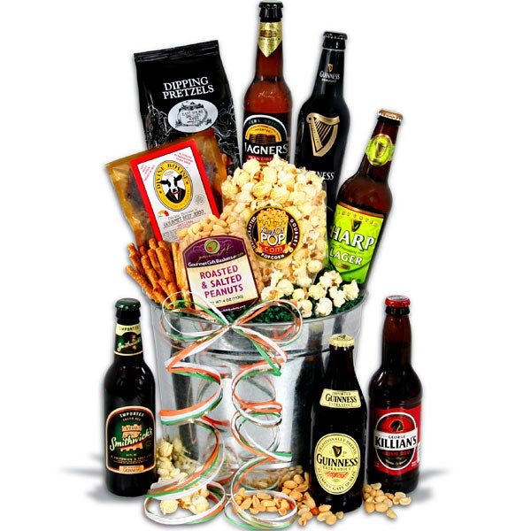 Irish Beer Bucket Gift Basket™ - 6 Beers