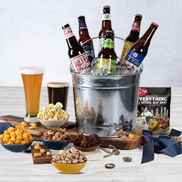Microbrew Beer Bucket Gift Basket - 6 Beers