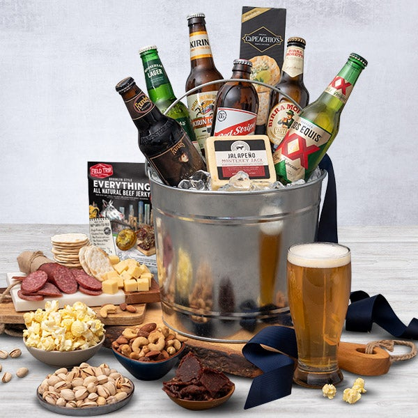 This Gourmet Experience Includes. Around The World Beer Bucket - 6 Beers
