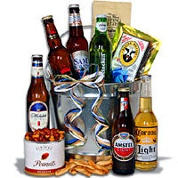 Light Beer Bucket Gift Basket™ - 6 Beers - (RETIRED) (4505)