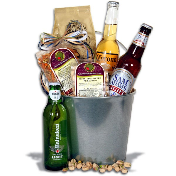 Light Beer Bucket Gift Basket - 3 Beers