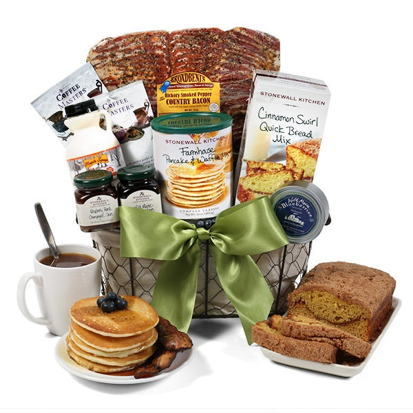 Breakfast Gift Basket Deluxe by GourmetGiftBaskets.com