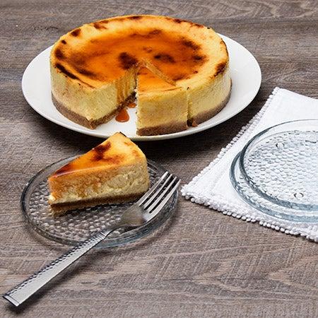Creme brulee whole cheesecake