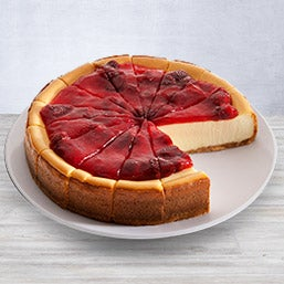 New York Strawberry Topped Cheesecake