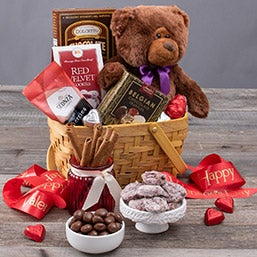 Teddy Bear & Chocolates Gift Basket (5789)