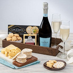 A Toast to Christmas Champagne Gift Basket (1323)
