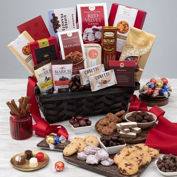 Christmas Chocolate Gift Basket By Gourmetgiftbaskets Com