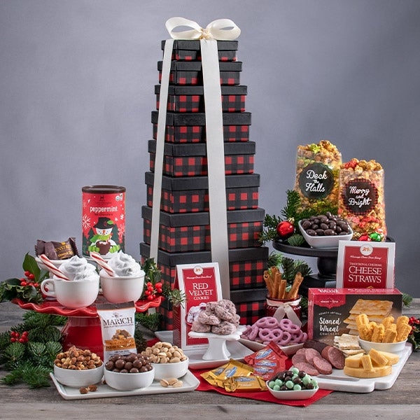 Christmas Food Gift Tower