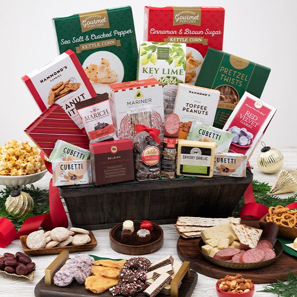 Christmas gift basket deluxe by gourmetgiftbaskets