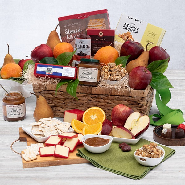 Gourmet food, chocolate and wine gift baskets Send a taste of the California good life with one of our premium gourmet gift baskets. Free Shipping to California.