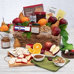 Christmas Gift Basket Free Shipping Fruit