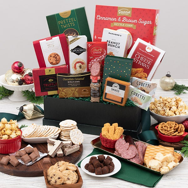 Christmas gift basket premium by gourmetgiftbaskets