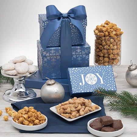 Happy holidays snack gift box
