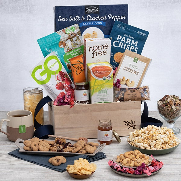 healthy gift baskets for christmas healthy holiday gift basket by gourmetgiftbaskets