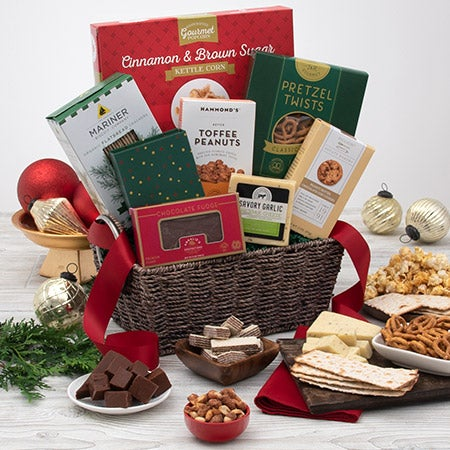 Holiday gift basket for clients