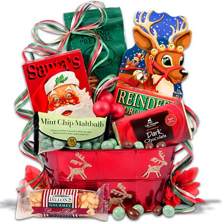 Santa's Midnight Snack Christmas Gift Basket