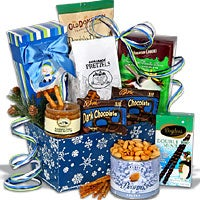 Holiday Sweets & Treats Snowflake Tin™ – Christmas Gift Basket