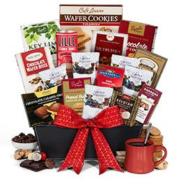 Coffee and Chocolates Gift Basket Premium (4072)