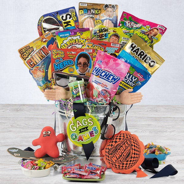 Easter gift baskets easter boxes delivered gourmetgiftbaskets easter candy toys basket negle Choice Image