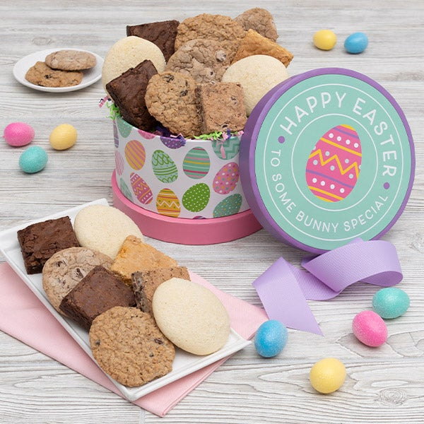 Happy Easter Cookie Brownie Gift Box 8987