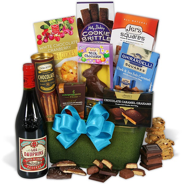 Easter basket deals for online shopping red wine dark chocolate easter basket negle Choice Image