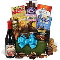 Red Wine & Dark Chocolate Easter Basket (4646)