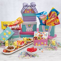 Gift baskets for grandparents by gourmetgiftbaskets happy easter gift tower negle Images