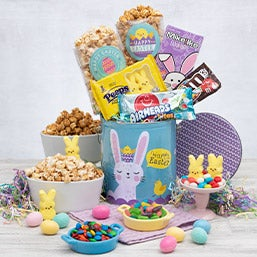 Gift baskets for grandparents by gourmetgiftbaskets hippity hoppity easter gift stack negle Images