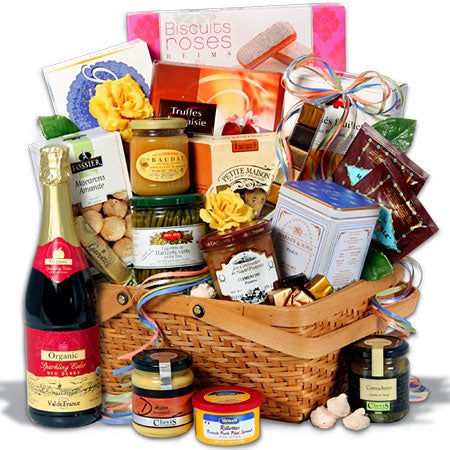 Watches on sale gift baskets small classic gourmet food basket food gift basket on tear into this scrumptious french gift basket with parisian and french negle Gallery