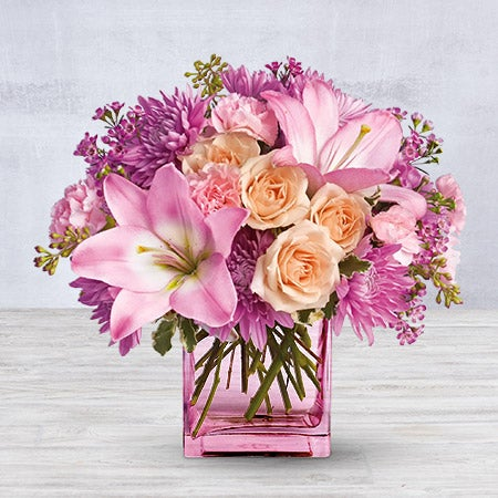 Telefloras Possibly Pink Flower Arrangement And Bouquet