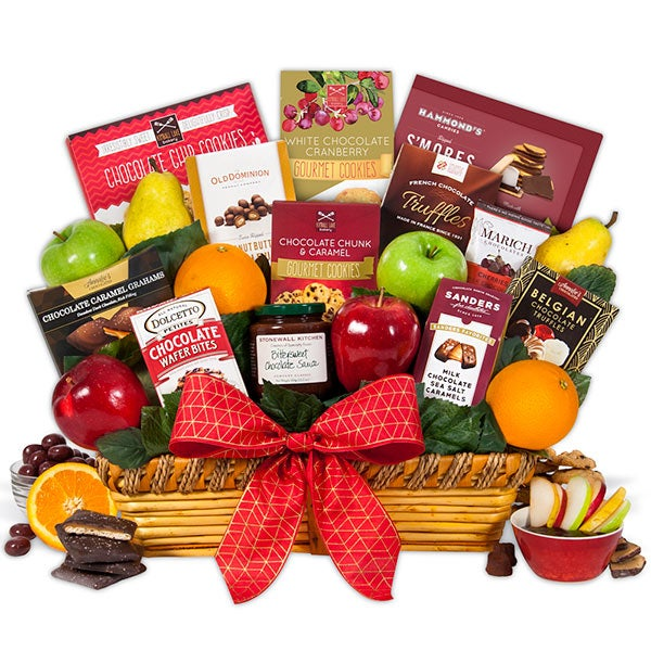 Fruit & Chocolate Gift Basket 4410