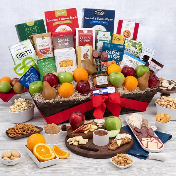 Signature series fruit and gourmet gift basket by
