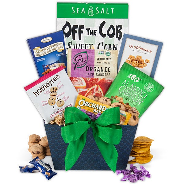 Gluten free gift baskets for all occasions holidays gluten free gift basket stack from gourmetgiftbaskets negle Choice Image