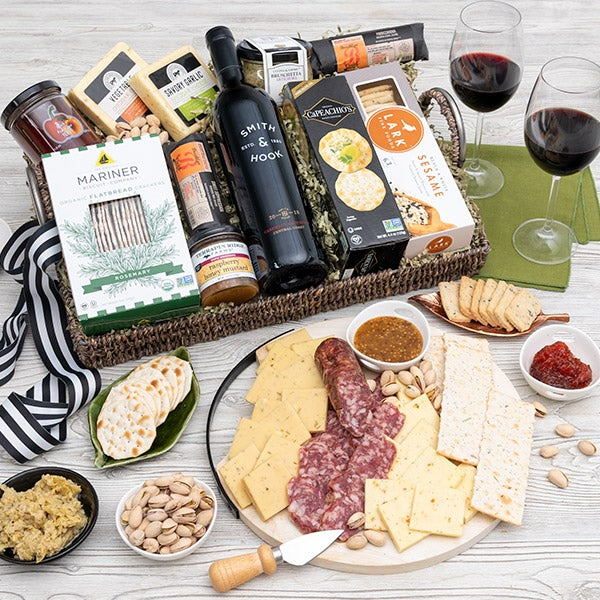 Artisan Charcuterie and Wine Tray