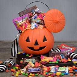 No Tricks...Only Treats Halloween Gift Basket (4753)