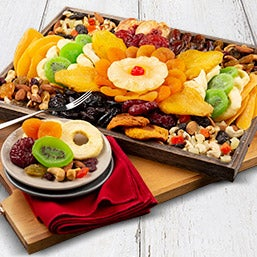 Dried Fruit & Nut Platter; fruit and nut baskets