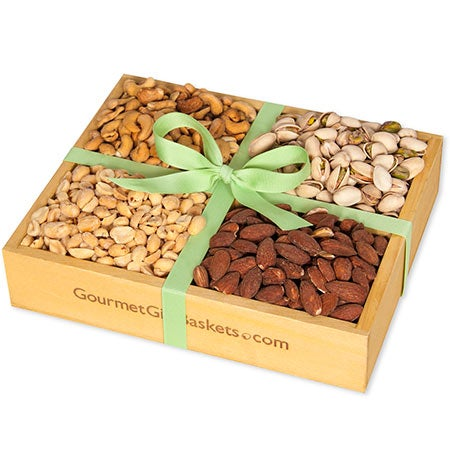Roasted Nuts Gift Crate by GourmetGiftBaskets #1: Roasted Nuts Gift Crate