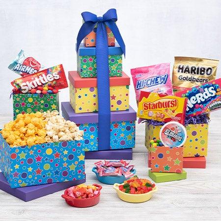 International Happy Birthday Gift Tower