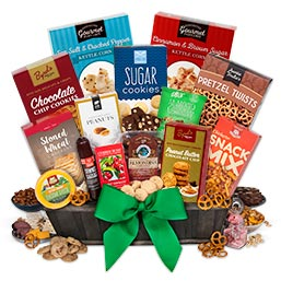 International Snack Gift Basket - Deluxe