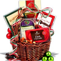 gift exchange mini christmas gift basket