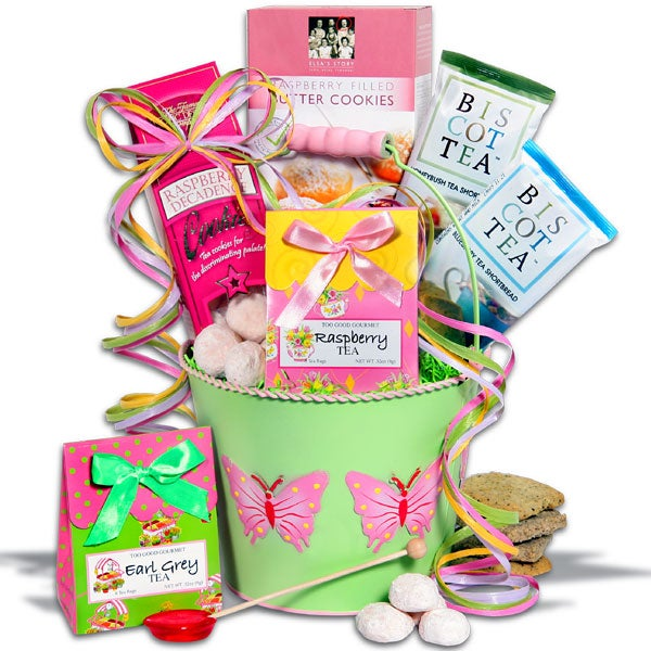 Mother's Day Butterfly Tea Time Gift Basket
