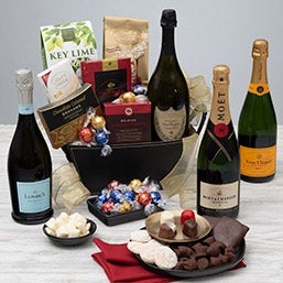 New Years Gift Basket of Indulgence