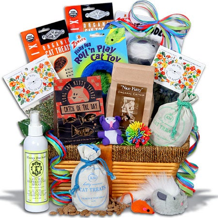 Cat lovers gift basket ultimate
