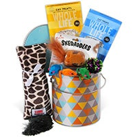 Cat Lover's Gift Basket / Pampered Cat Gift Basket (6500)