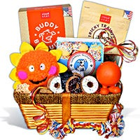 Dog Lover's Gift Basket / Pampered Dog Gift Basket (6520)