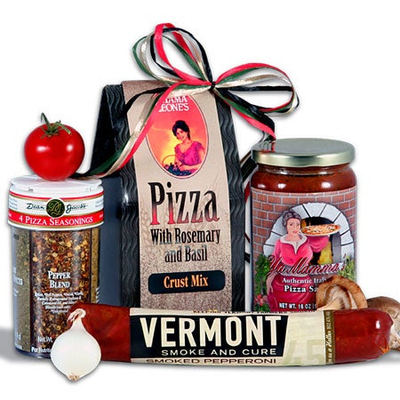 Gourmet Pizza Gift Basket Stack
