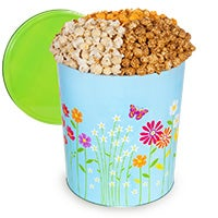 Butterflies & Flowers Popcorn Tin