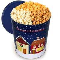 Christmas On Main Street Popcorn Tin