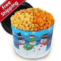 Whimsical Snowmen Gourmet Popcorn Tin (7261)
